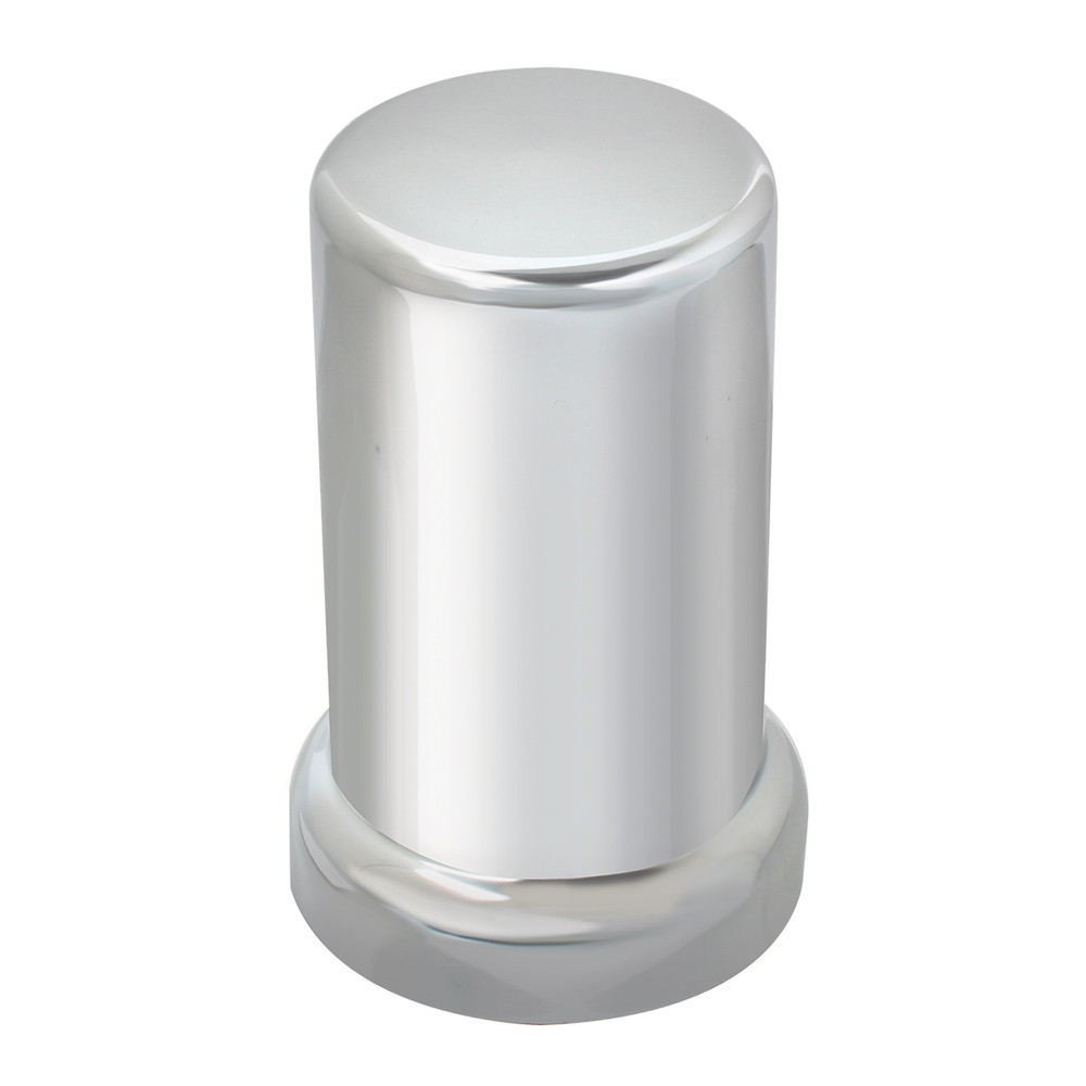 Tube Chrome Plastic Lug Nut Cover with Flange