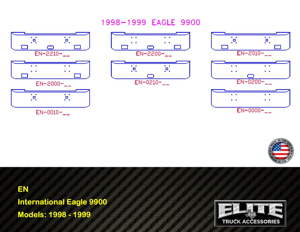 1998 - 1999 International Eagle 9900 Chrome Bumper