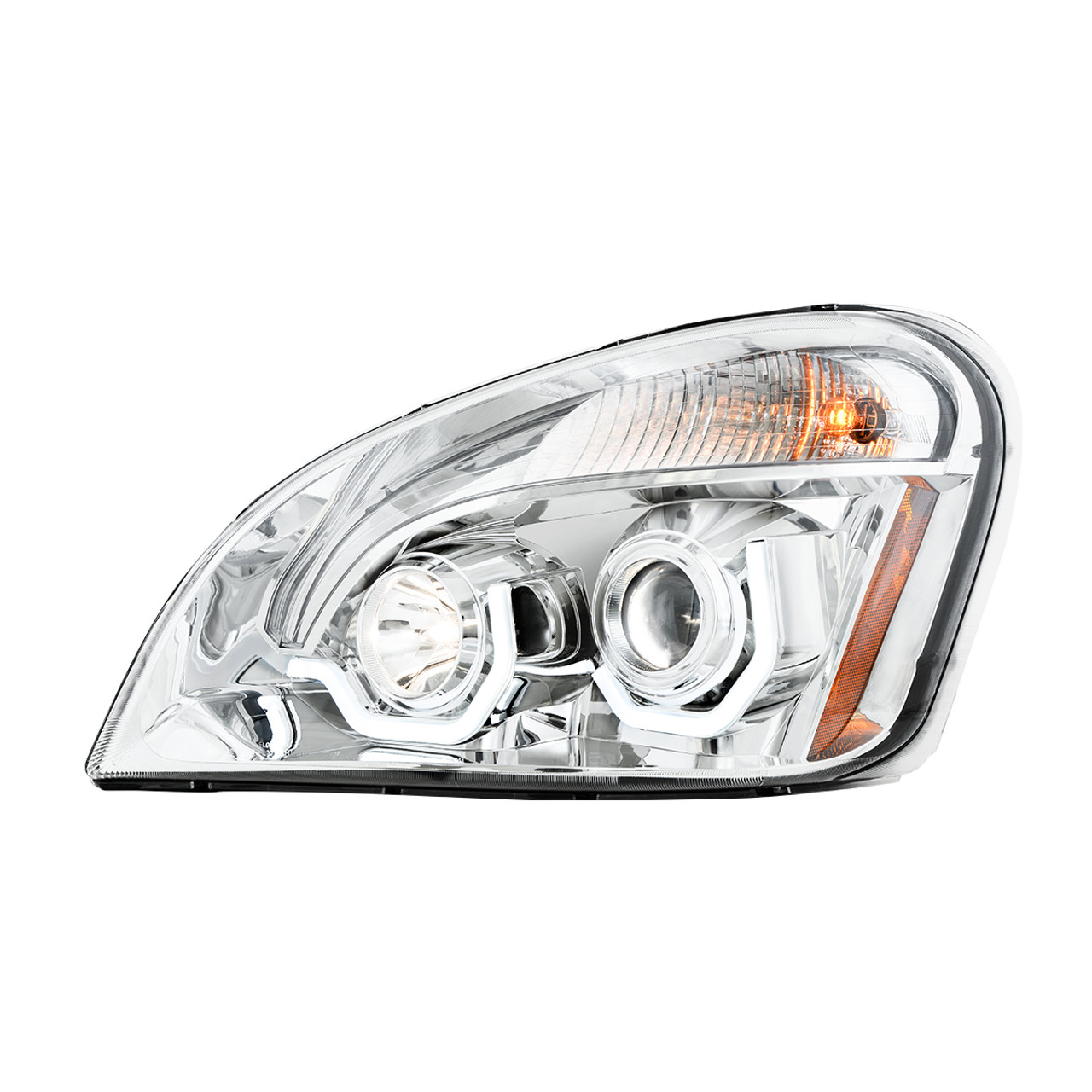 Driver Side Freightliner Cascadia Crystal LED Projection Headlight
