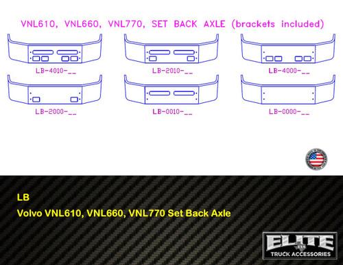Volvo Bumper VNL610, VNL660, VNL770 Set Back Axle