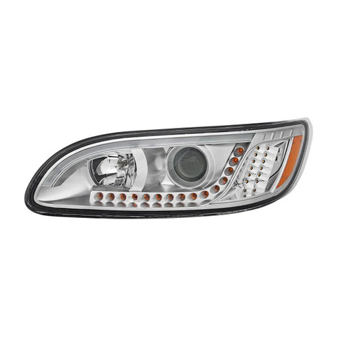 Peterbilt 386/387 LED Chrome Headlight