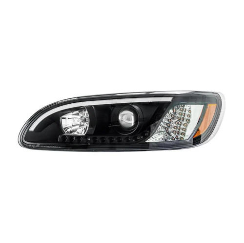 Peterbilt 386/387 LED Black Headlight