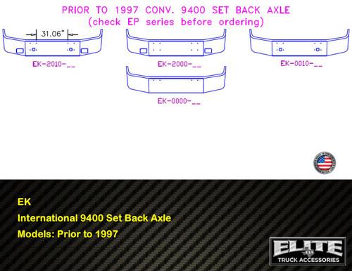 International Bumper 9400 Set Back Axle Prior to 1997