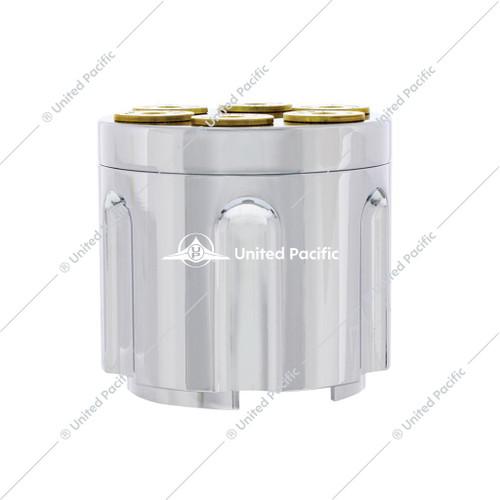 Chrome Gun Cylinder 9/10 Speed Gearshift Knob