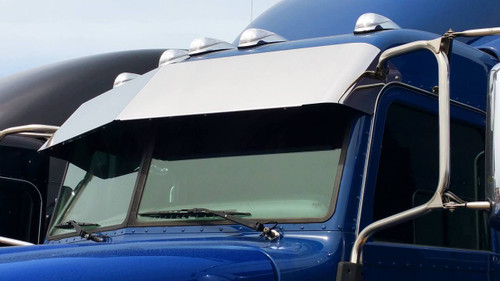 "Peterbilt Visor 14"" Blind Mount  fits 2005+ Ultra Cab 379, 388, 389 with cab mounted mirrors and 6 factory OEM visor brackets  (A731016)"
