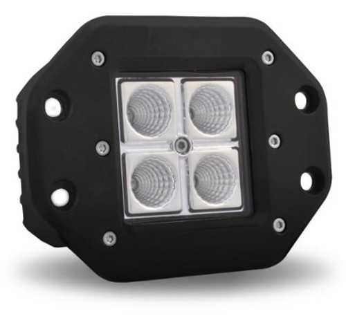 Surface Mount Octagon LED Work Light (1000 Lumens) Spot/Flood Beam