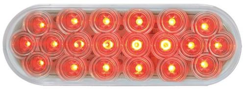 Oval Fleet Led Light - Red/Clear Lens (87729)