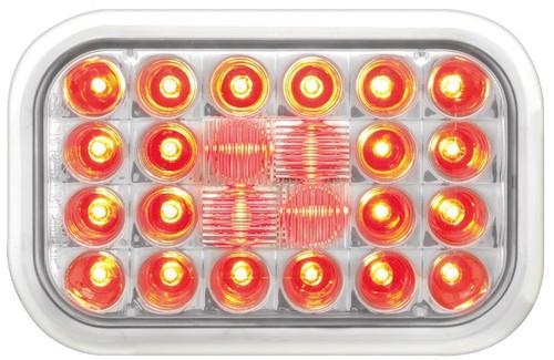 Rectangular Pearl Led Light - Red/Clear Lens (77183)