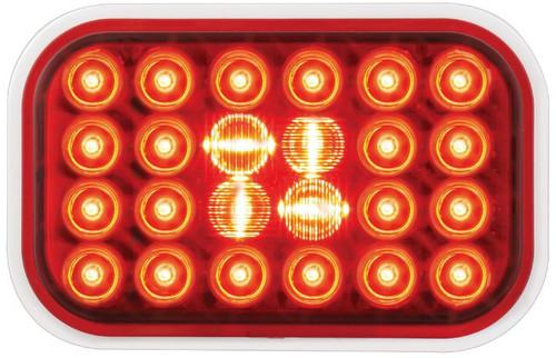 Rectangular Pearl Led Light - Red (77182)