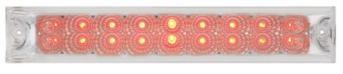 "12"" Light Bar Spyder LED, Red Clear Lens - Stop, Turn & Tail (76988)"