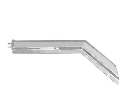 "30"" Chrome Heavy Duty Mud Flap Hangers Angled"