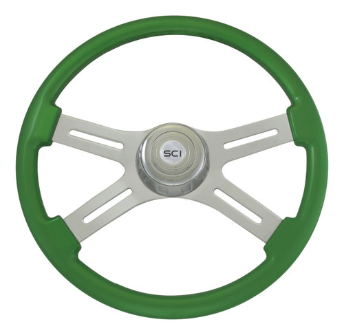 "18"" Classic Green Steering Wheel"