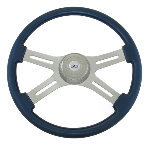"18"" Classic Blue Steering Wheel"