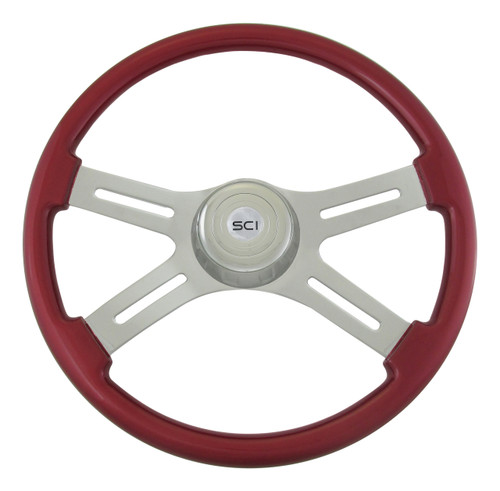 "18"" Classic Red Steering Wheel"