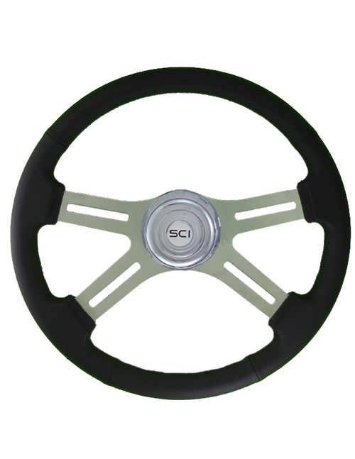 "18"" Classic Leather Steering Wheel (380-3003-77502)"