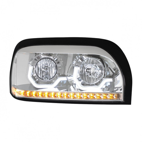 Freightliner Century Projection Headlight with LED Turn Signal - Chrome 31204
