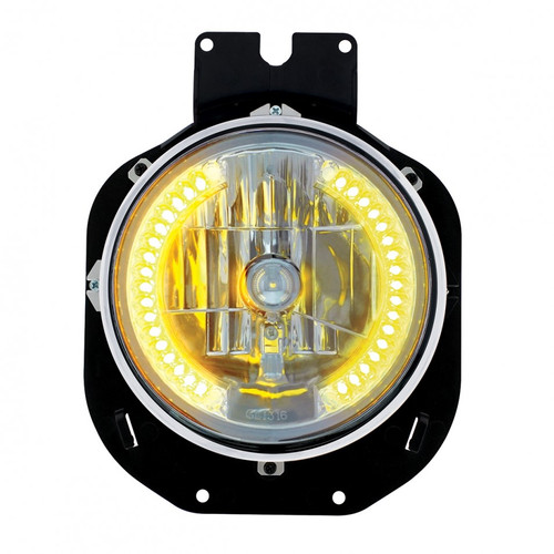 1996-2005 Freightliner Century 34 LED Crystal Headlight - Amber LED's 31141