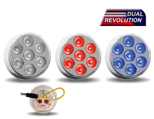 "2"" Dual Revolution LED - Red / Blue"