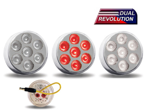 "2"" Dual Revolution LED - Red / White"