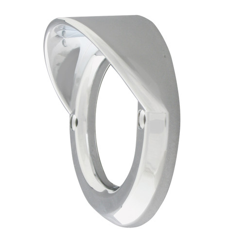 2-1/2″ Round Light Chrome Bezel with Visor