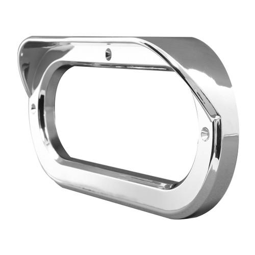 Oval Light Chrome Bezel with Visor