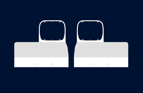 Peterbilt 379 Fender Guard - Single Headlight Mount