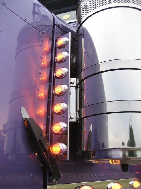 Peterbilt Front Air Cleaner Light Panels - Phoenix P3 Lights