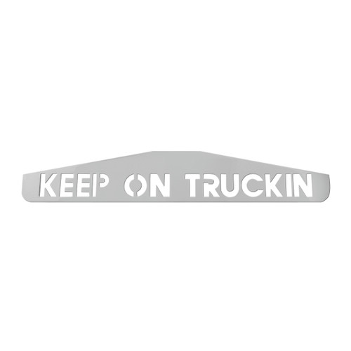 "24"" Bottom Mud Flap Plates - Keep On Trucking"