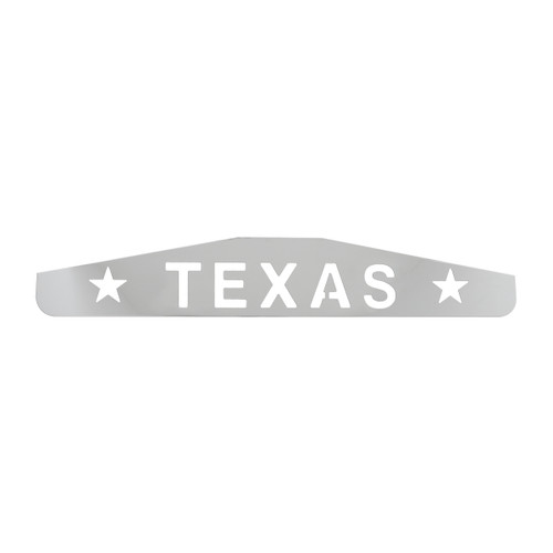 "24"" Bottom Mud Flap Plates - Texas w/Stars"