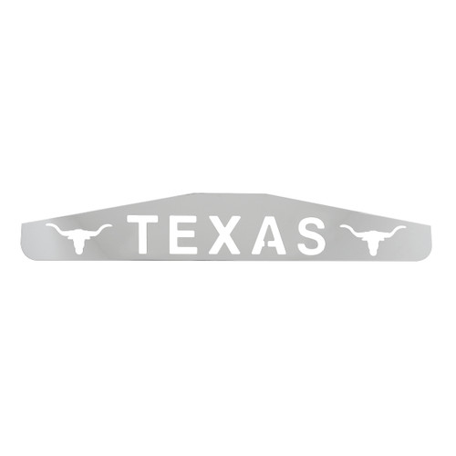 "24"" Bottom Mud Flap Plates - Texas w/Longhorn"