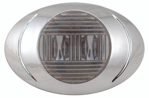 Oval Phoenix P3 LED Clearance Marker Light - Smoke Series