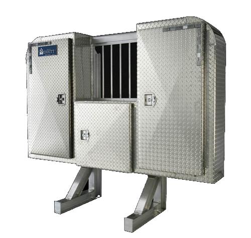 Merritt LSR Headache Rack - 3 Door Enclosure and Jail Bar Window