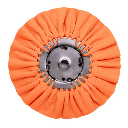 "9"" Orange Airway Buffing Wheel with Center Plate"