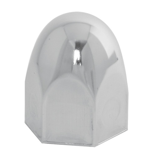 Bullet Chrome Steel Push-On Lug Nut Cover with NO Flange