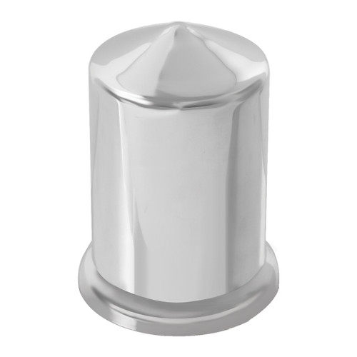 Pointed Chrome Plastic Multi-Size Push-On Lug Nut Cover