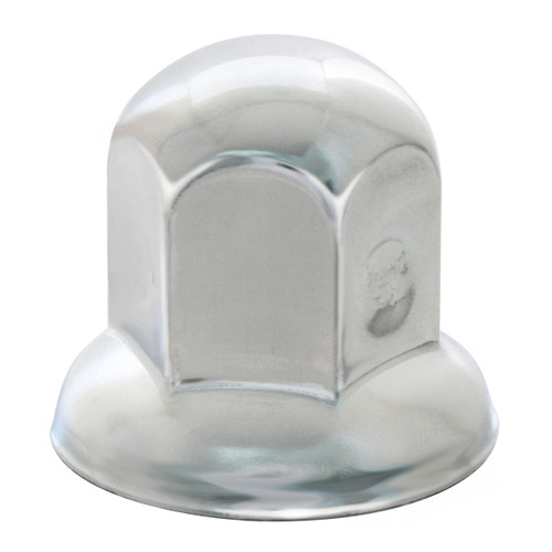 Standard Chrome Steel Push-On Lug Nut Cover with Flange