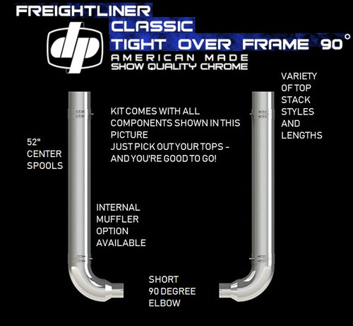 "Freightliner Classic 6"" REDUCE TO 5"" OEM Elbow Exhaust Kit"
