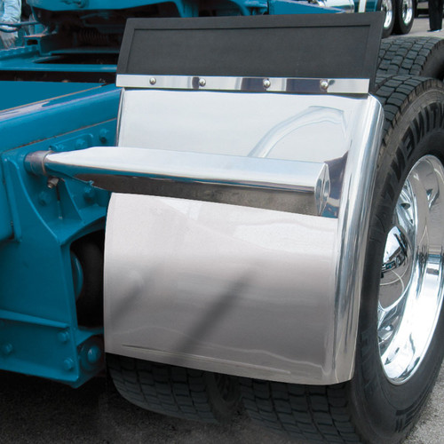 "24"" Stainless Steel Quarter Fender Kit w/ Rolled Edge"