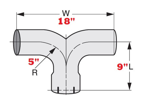 """5"""" Aluminized Expanded & Slotted End Y-Pipe"""