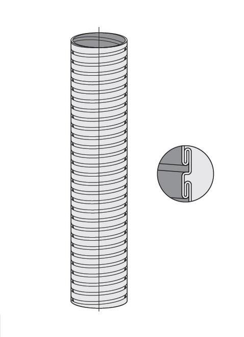 """5"""" Diameter Stainless Steel Flexible Metal Hose"""