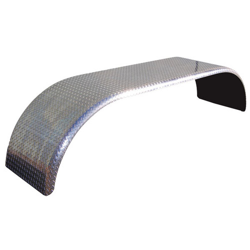 Diamond Plate Aluminum Double Radius Full Fender