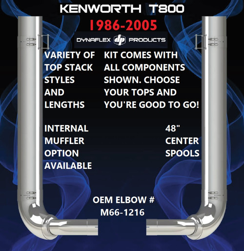 "Kenworth T800 (1986-2005) 8"" Exhaust Kit"