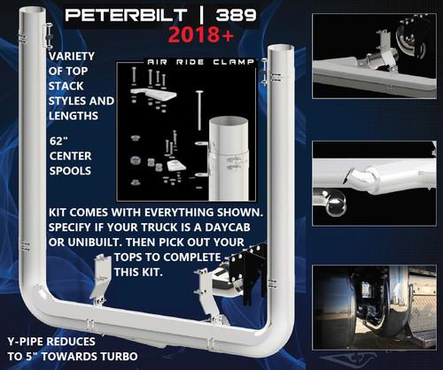 """Peterbilt 389 (2018) 7"""" FULL DIAMETER Exhaust Kit"""