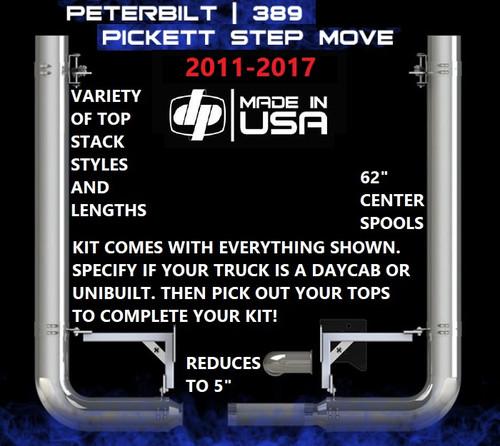 "Peterbilt 389 (2011-2017) 8"" REDUCE TO 5"" Rod Pickett Exhaust Kit"