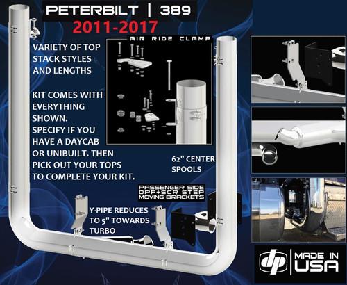 """Peterbilt 389 (2011-2017) 7"""" FULL DIAMETER Exhaust Kit"""