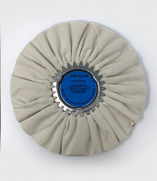 "10 "" White/Blue Super Shine Wheel"