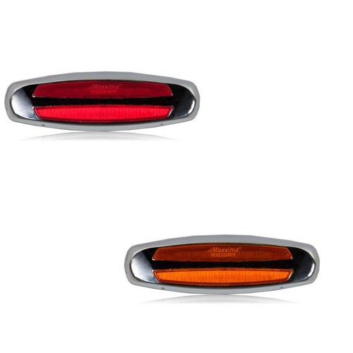"2"" x 6"" Clearance Marker Light with Chrome Bezel"