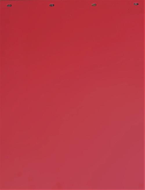 "Red Plastic Mud Flap (24""x30"")"