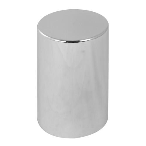 Flat Top Chrome Plastic Lug Cover