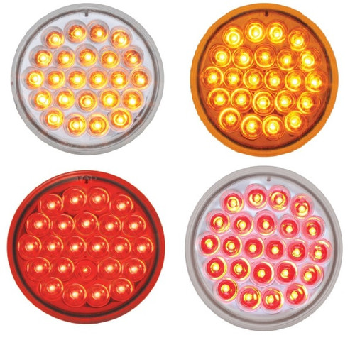 "4"" Pearl LED Stop/Turn/Tail & Park/Clearance/Turn Light"